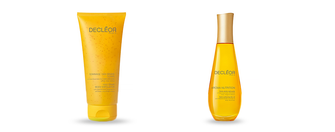 Products of the Month – Decleor 1000 Grain Scrub & Decleor Aroma Nutrition Satin Softening Dry Oil