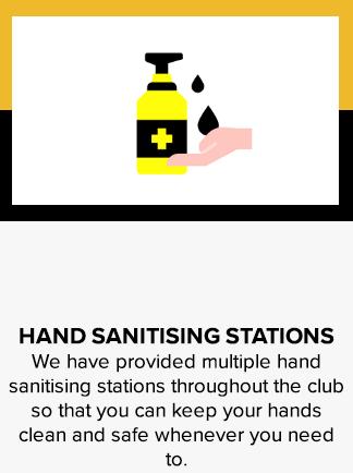 Hand sanitising stations