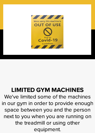 Limited gym machines