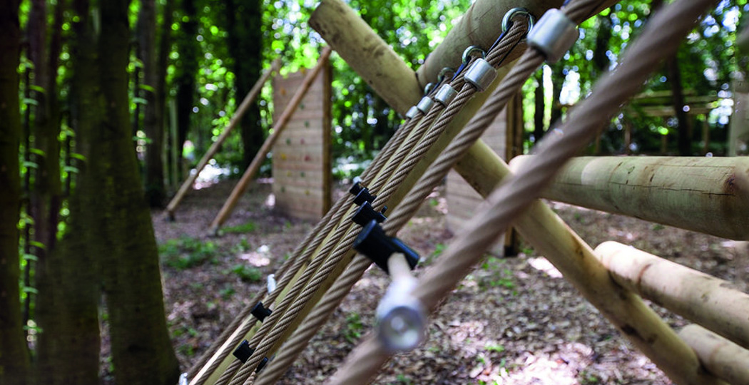 Assault Course Ropes Closeup