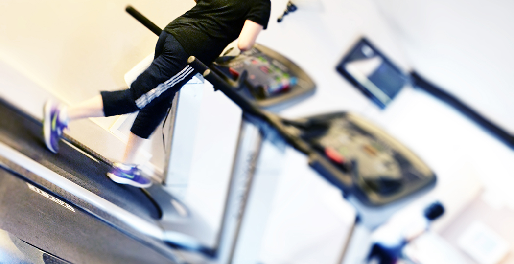 Rainham Gym running on treadmill