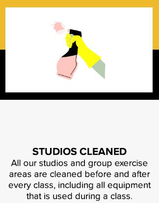 Studios cleaned